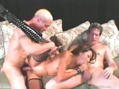 Nasty asian Keeani Lei acquires her pussy pounded whilst sucking on a hard prick