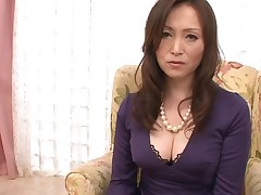 Dude stimulates Japanese chick in nylons with a marital-device