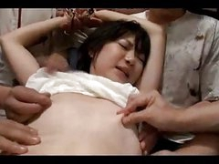Asian Girl With Tiny Tits Blindfolded Fingered Stimulated Fucked With Toys Sucking Guys Cock On The Floor In The Room