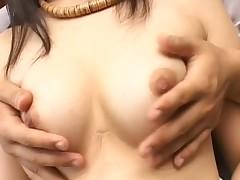Horny man is stroking hottie's vagina during their wild workout