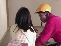 Asian Housewife And Delivery Guy