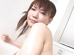 Pal licks, fingers and copulates bushy cookie of girlie from Asia