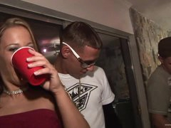 Drunk Babes Kara Tai and Tiffany Merlot Getting Drilled In College Party